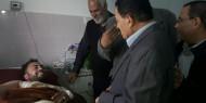 لجنة لاجئى خان يونس تزور جرحى مسيرة العودة