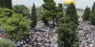 نحو 50 ألف مصل يؤدون الجمعة في المسجد الأقصى المبارك