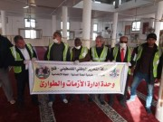 حركة فتح  إقليم رفح تقوم بحملة تنظيف وتعقيم للمرافق العامة